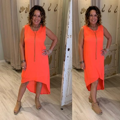 100% cotton Bodina dress  -  neon