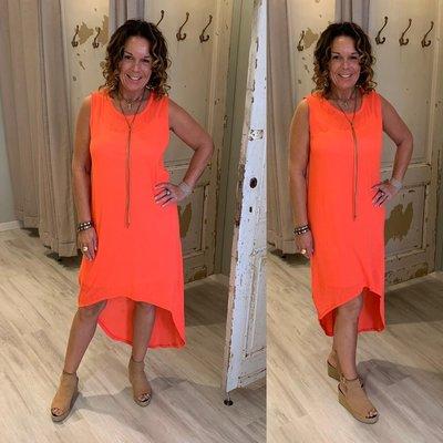 100% cotton Bodina dress  -  neon