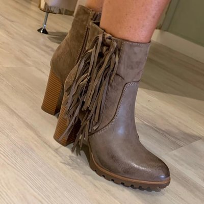 TAUPE fringle Boots