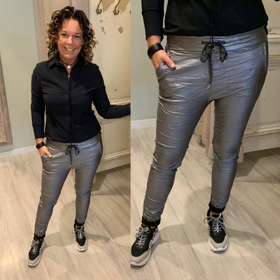 Basic Metallic Joggingbroek D GREY