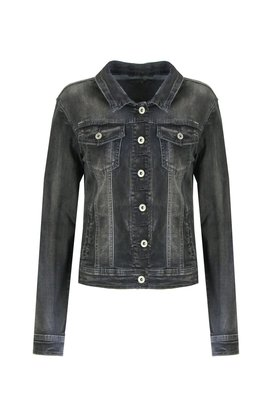 C&S basic spijkerjacket BLACK
