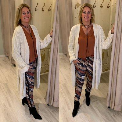 Ilse Knitted cardigan/vest ECRU