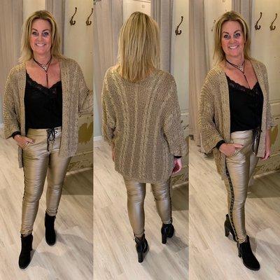 Dilinda Sparkle vest GOLD