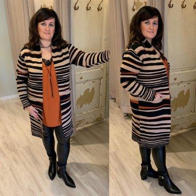 Excellent vest Limma - zwart/camel/roest