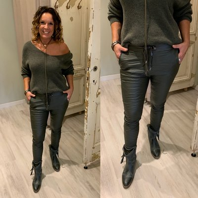 Basic Metallic Joggingbroek ARMY