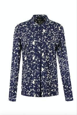 G MAXX travel kwaliteit print blouse - BLAUW