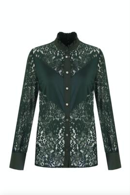 G MAXX Lilian Lace blouse - gucci green