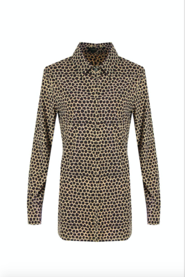 G MAXX Evelien travel kwaliteit print blouse - BRUIN/BEIGE