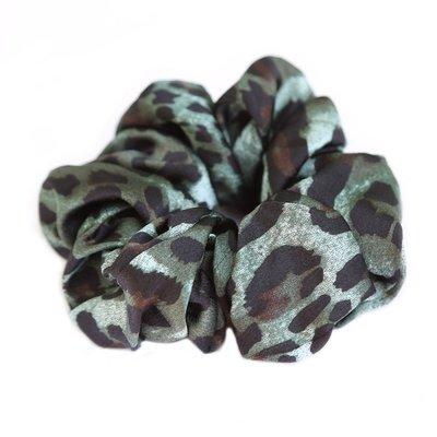 love ibiza Scrunchie silk Leopard green