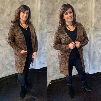 Exxcellent vest beau - brown