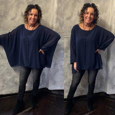 Nikky blouse - navy