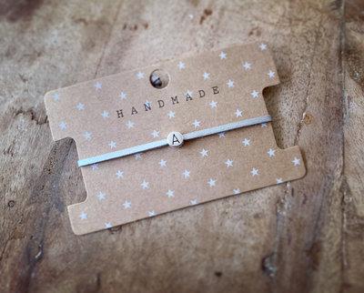 Initiaal bracelet/armband A zilver