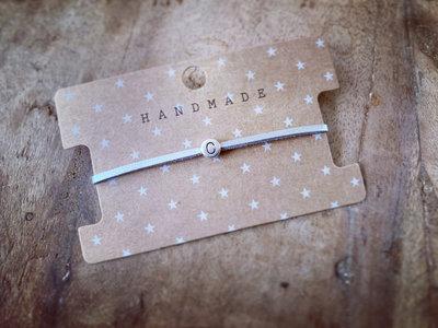 Initiaal bracelet/armband C zilver
