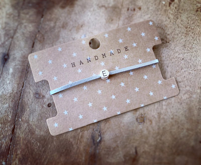 Initiaal bracelet/armband E zilver