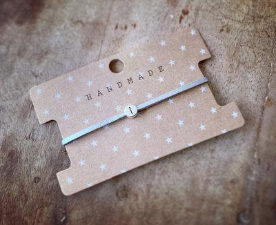 Initiaal bracelet/armband I zilver