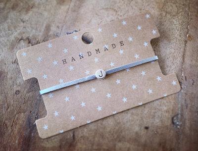Initiaal bracelet/armband J zilver