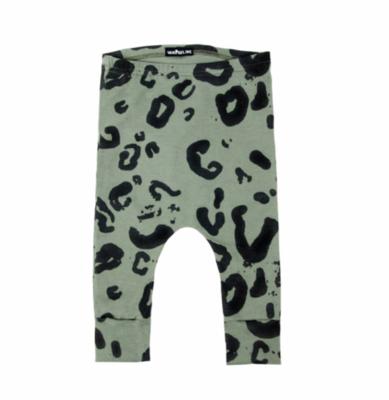 Leopard Pants Green