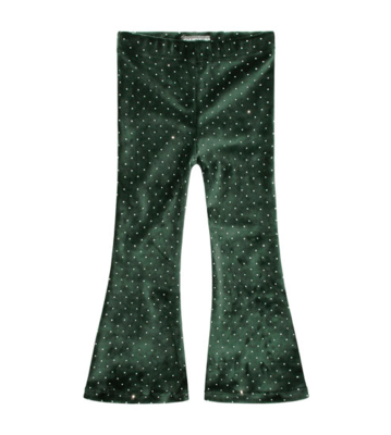 SPARKLY EMERALD | FLARED LEGGING