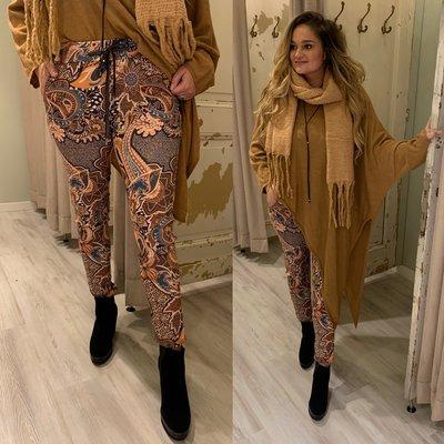 Yvonna joggingbroek - oranje/bruin tinten