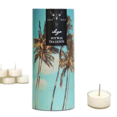 Set of 5 Soy wax Tea lights - IBIZA