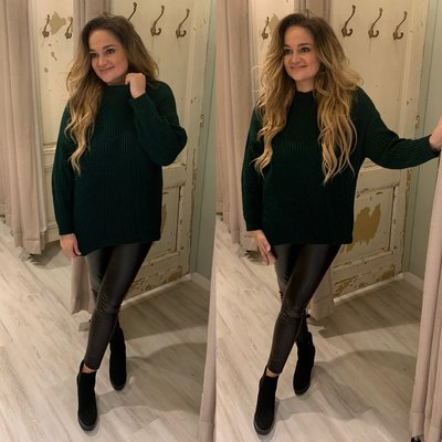 Esther RIB sweater - gucci green