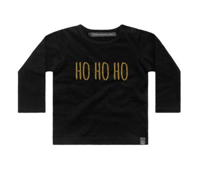 HO HO HO shirt - zwart/goud