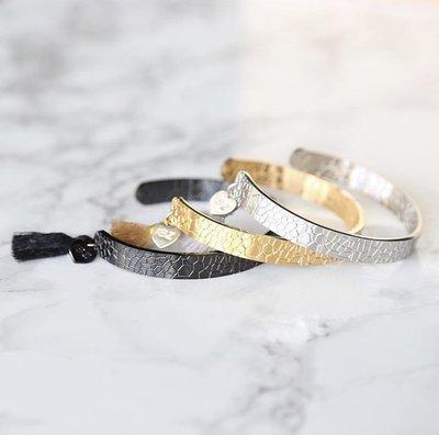 LOVE IBIZA snake bracelet zwart