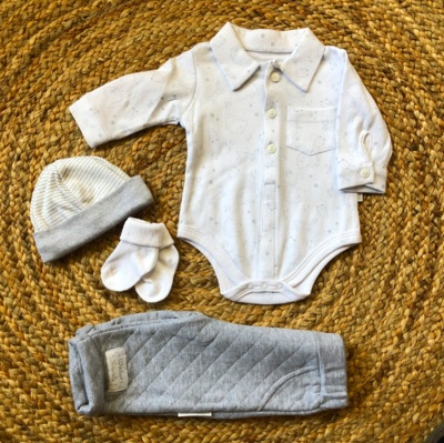 Newborn animal set grey