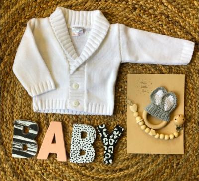 Newborn vest Dailey wit