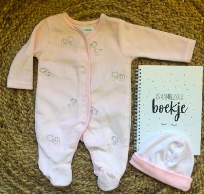 Newborn boxpakje animals - pink