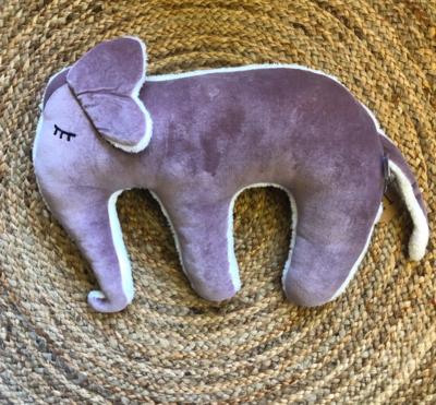 Slaap knuffel olifant - paars/wit