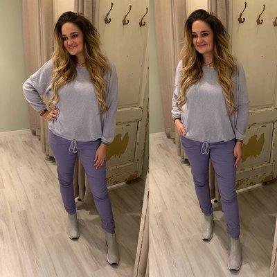Christa basic shirt - lila