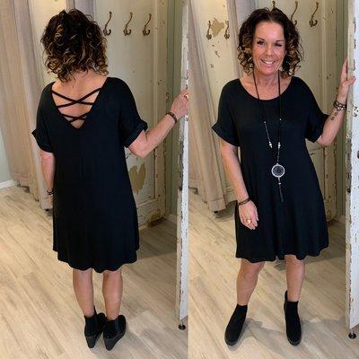 Olivia tuniek dress - zwart