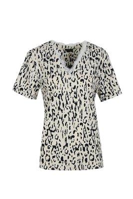 G MAXX traveller top leopard print met V hals - army