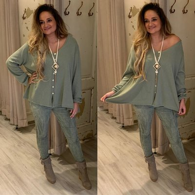 Jitske sweater blouse - ARMY