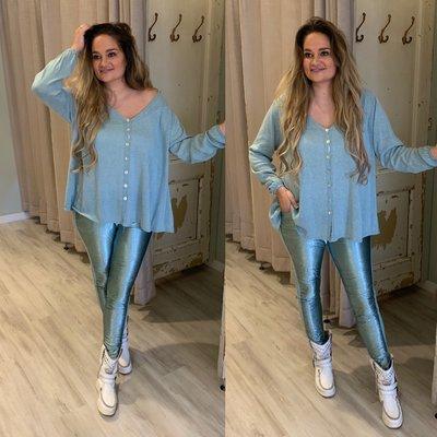 Jitske sweater blouse - PETROL