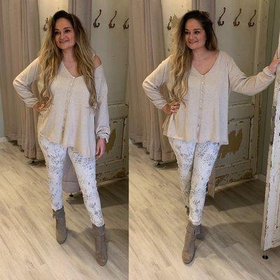 Jitske sweater blouse - BEIGE