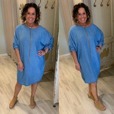 0.2 Monica Jeans tuniek dress - jeans