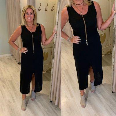 100% cotton 0.2 Justine dress - zwart