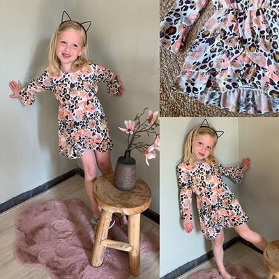 GIRL HAPPYSUMMER LEOPARD DRESS