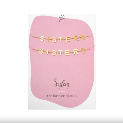 Bracelet Sisters Forever Friends - gold