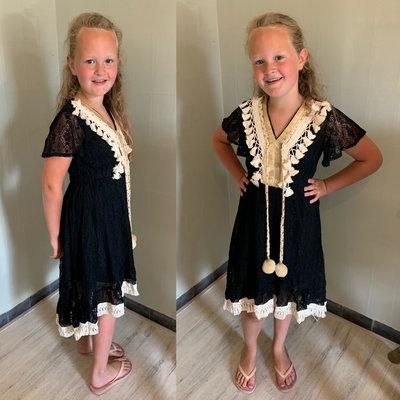 BOHO dress for GIRLS - zwart