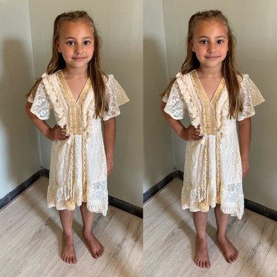 BOHO dress for GIRLS - beige