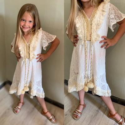 BOHO dress for GIRLS - white