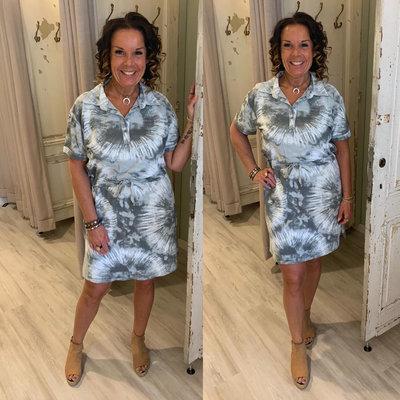 Batik Dress - grijs