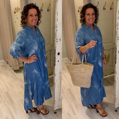 Mieke Jeans blouse dress - batik