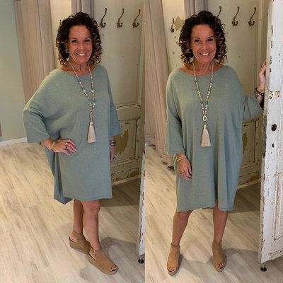 Shalina sweater tuniek dress - ARMY