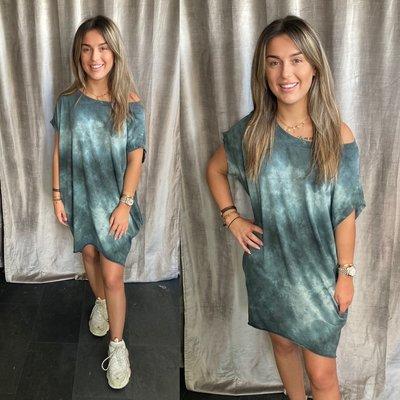 Batik Print tuniek/dress - Antrasiet