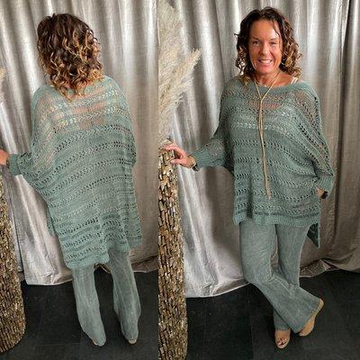 Mila sweater - army