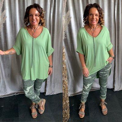 Viosa Basic shirt - appel groen